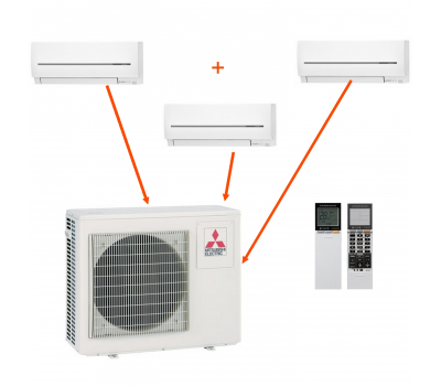 Mitsubishi Electric MXZ-3E68VA+MSZ-SF15VA+MSZ-SF20VA+MSZ-SF25VE